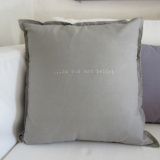 "Kissen 45x45 cm, Farbe: ""warmgrau"", by: Anne Rieck/ Castel Franc, Provence"