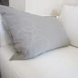 "Kissen 60x35 cm, Farbe ""warmgrau"", by: Castel Franc / Provence"