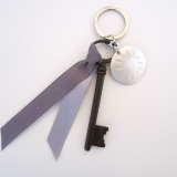 "Schlüsselanhänger Provence ""lavande"", mit altem Schlüssel, by: Castel Franc"