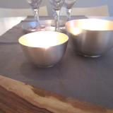 Silberschalen 55 mm und 70 mm, mit Licht; by: castel-franc.com  (Provence)