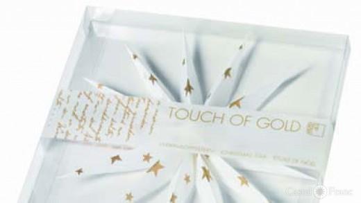 """Verpackung zu Weihnachtsstern """"Touch of Gold"""", Fa. Räder, Bochum"""