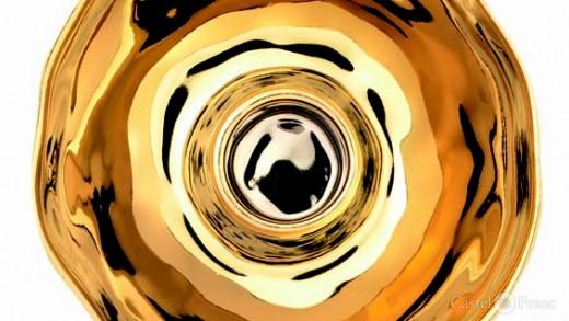 "Kerzenhalter ""Touch of Gold"", Fa. Räder, Detail"