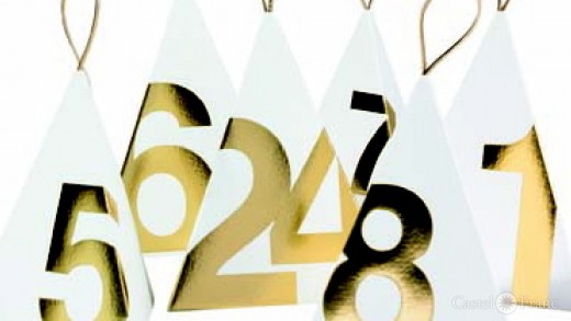 "Aventskalender ""gold"", Firma Räder, Detail"