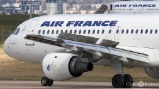 Flugzeug der Air France in Paris