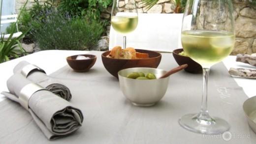 "Servietten ""gastrosophe"" (mit Deko), ⓒ: Castel Franc /Provence Wohnaccessoires"