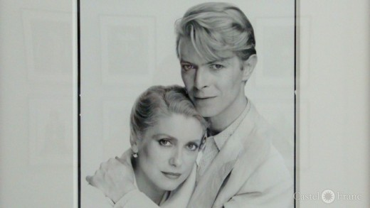 "David Bailey: Catherine Deneuve und David Bowie, ""Stardust"", Arles 2014"