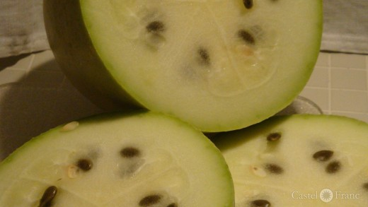 aufgeschnittene Frucht der Méréville