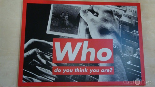 Who do you think you are? Barbara Kruger, Collection Lambert/ Foto: Castel Franc
