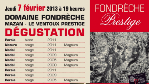 """Dégustation Fondrèche au """"Le 17"""", L'Isle/Sorgue, by: Castel Franc, Provence"""