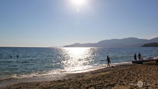 Der Strand von Gigaro, mit Blick auf Porquerolles