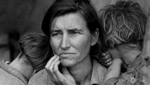 """Migrant Mother"", Dorothea Lange, by: castel-franc.com"