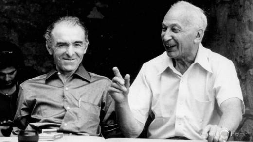 """""""Photographers Robert Doisneau (left) and André Kertész 1975 (von Wolfgang H. Wö"""