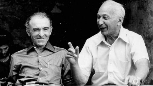 Robert Doisneau und André Kértesz 1975 in Arles