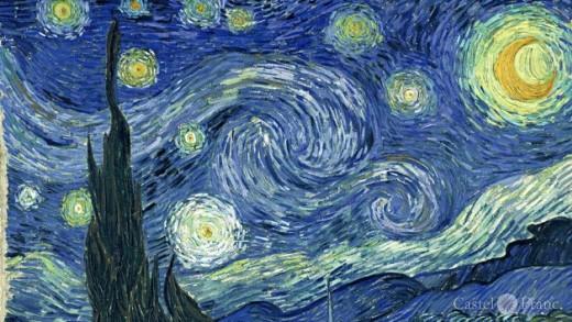 "Vincent van Gogh, ""Sternennacht"", Ausschnitt"