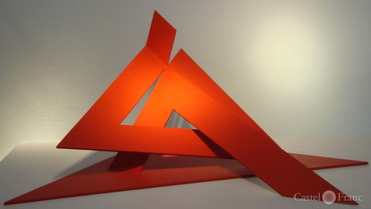 Octavio Herrera: Triangles Rouges (2010), Villa Datris, Foto by: Castel Franc