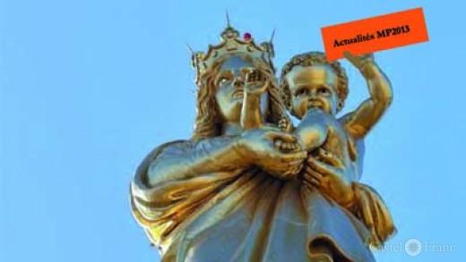 goldene Madonna mit Kind