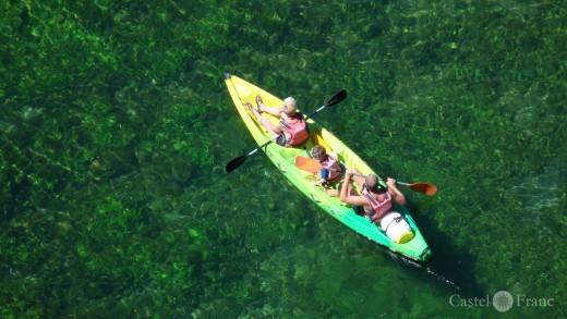 Canoë-Kayak (im Kayak) auf der Sorgue, Foto: Castel Franc, Provence
