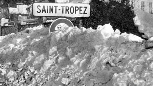 Winter 1956, Schnee in Saint Tropez