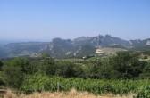Blick in die Dentelles du Montmirail von Suzette, Südfrankreich
