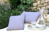 """Kissen """"lavendel"""", Maße: 60x35 cm u. 45x45 cm; ⓒ: Castel Franc - cadeaux"""