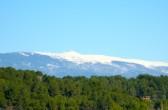 der Mont Ventoux unter Schnee, von: Castel Franc/ Provence