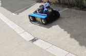 Seifenkistenrennen in Velleron, Provence: steil bergab