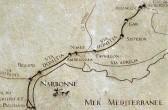 """Relief zum Verlauf der """"Via Domitia"""", in Narbonne, by: Castel Franc/ Provence"""