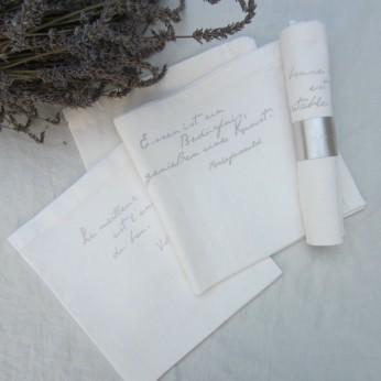 """Servietten """"gastrosophe"""", 45x45 cm, """"natur""""; ©by: Castel Franc /Provence"""