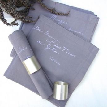 "Servietten ""gastrosophe"", 45x45 cm, ""lavendel""; ©by: Castel Franc /Provence"