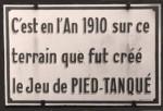 Pétanque-Hinweistafel La Ciotat